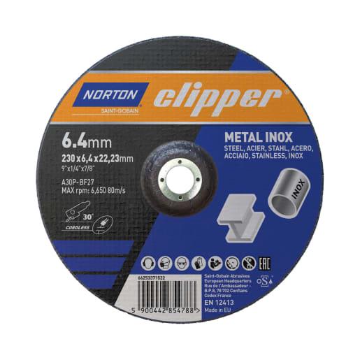 Norton Clipper Metal Grinding Disc 230 x 6 x 22.23mm