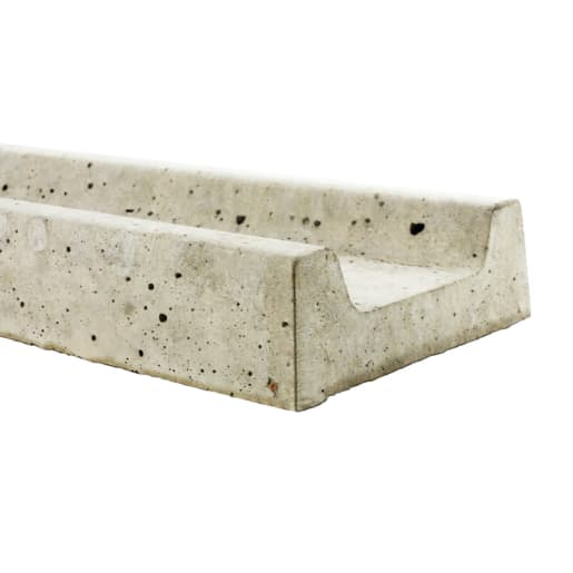 Allen Concrete Pyramid Top Slotted Post 1830 x 300mm Grey