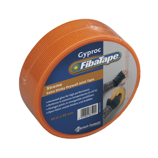 Gyproc FibaTape Xtreme 90m x 48mm Orange