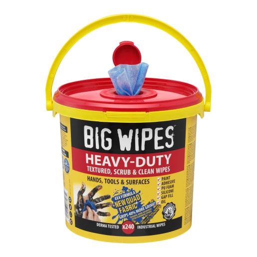 Big Wipes Antiviral Heavy Duty 4x4 Wipes Bucket of 240