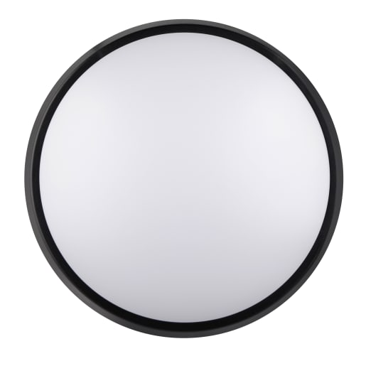 Luceco IP54 Round Bulkhead 10W 215mm Dia Black / White