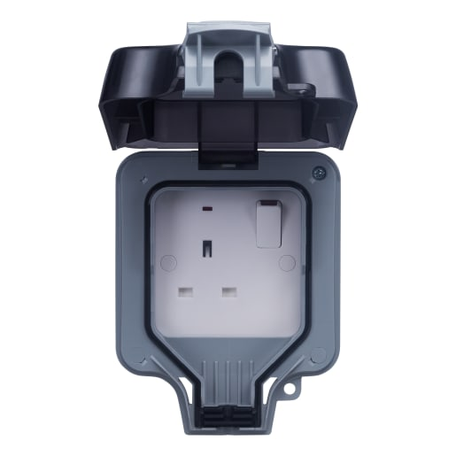 BG Electrical Nexus Storm 1-Gang Double Pole Switch Socket