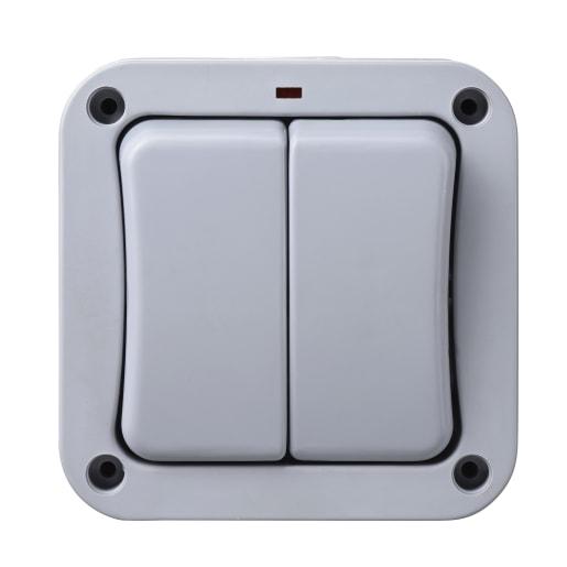 BG Electrical Weatherproof Nexus Storm IP66 2Way 20Amp Switch Grey