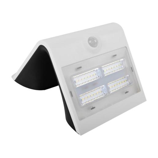 Luceco Solar Guardian PIR LED Wall Light 212 x 140 x 110mm White