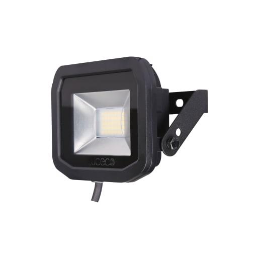 Luceco Slimline Flood Lights 22W 114 x 114 x 52mm Black