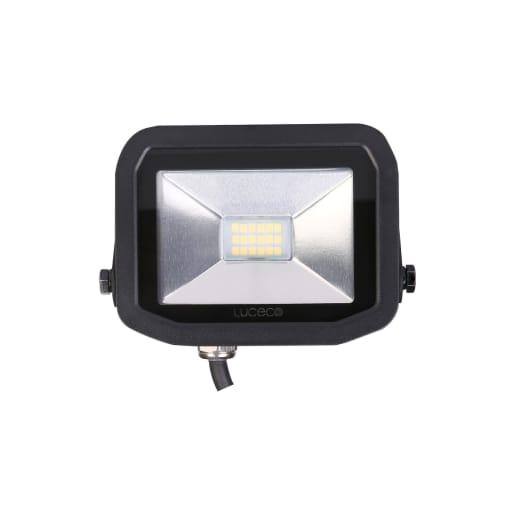 Luceco Slimline Flood Lights 8W 114 x 114 x 52mm Black
