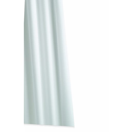 Alterna High Performance Textile Shower Curtain 1800 x 1800mm White