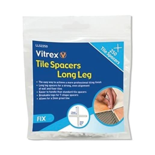 Vitrex Long Leg Tile Spacers 2mm Pack of 500