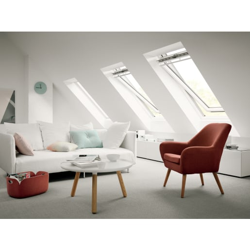 VELUX GGL CK02 2070 White Painted Centre Pivot Roof Window 55 x 78cm