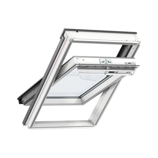 VELUX GGL MK04 2070 White Painted Centre Pivot Roof Window 78 x 98cm