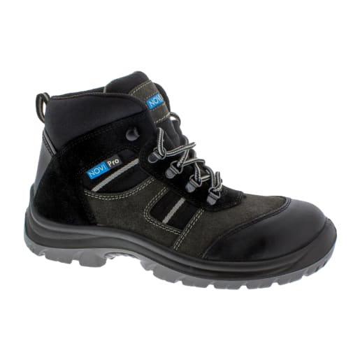 NOVIPro Safety Hiker Boots Black/Grey Size 10