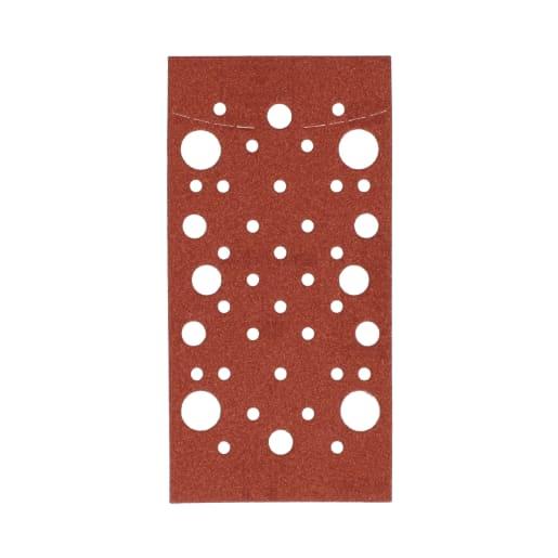 Norton Expert Multi Hole Velcro Backed Sandpaper Grain 120 93 x 185mm