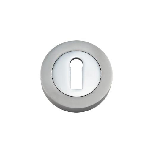 Standard Keyway Escutcheon 50 x 10mm Pair Chrome