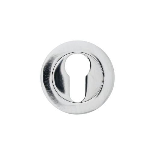 Euro Profile Escutcheon 50 x 10mm Pair Polished Chrome