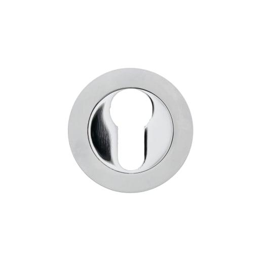 Euro Profile Escutcheon 50 x 10mm Pair Chrome