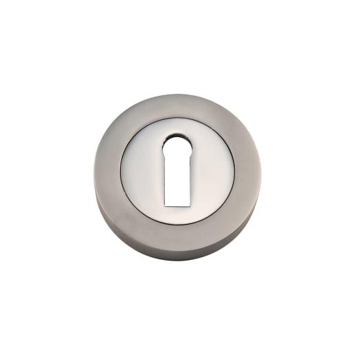 Standard Keyway Escutcheon 50 x 10mm Pair Satin Nickel Plated