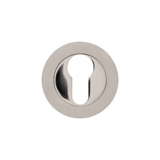 Euro Profile Escutcheon 50 x 10mm Pack of 2 Satin Nickel Plated