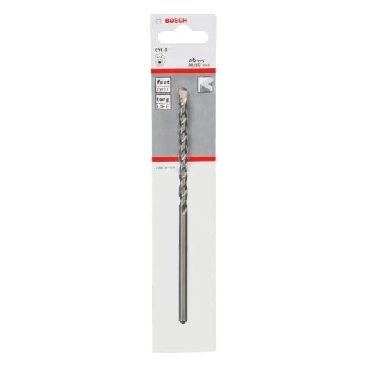 Bosch Drilling Percussion Bit 150 x 6mm Silver