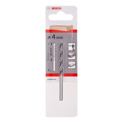 Bosch Standard Brad Point Wood Drill Bit 4mm Silver/Black