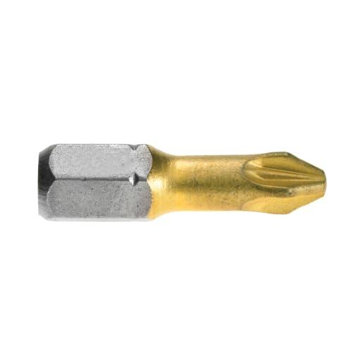 Bosch Screw driving Max Grip Bit PZ2 25mm Gold