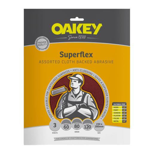 Oakey SuperFlex Cloth Backed Aluminium Sheet 280 x 230mm