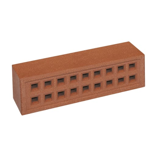 Forterra Red Bank Square Hole Airbrick 215 x 65mm Red 350