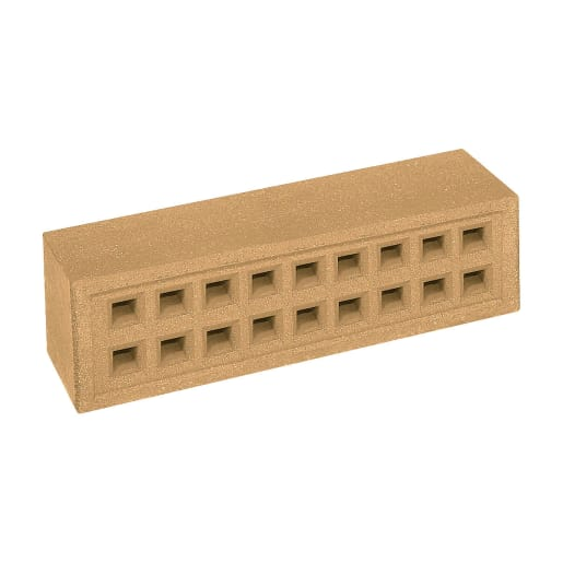 Red Bank Square Hole Airbrick  215 x 65 x 50mm Buff