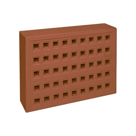 Forterra Red Bank Square Hole Airbrick 215 x 140mm Red 351