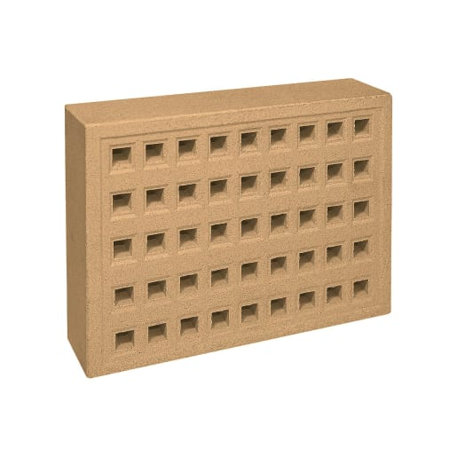 Red Bank Square Hole Airbrick 215 x 140 x 50mm Buff