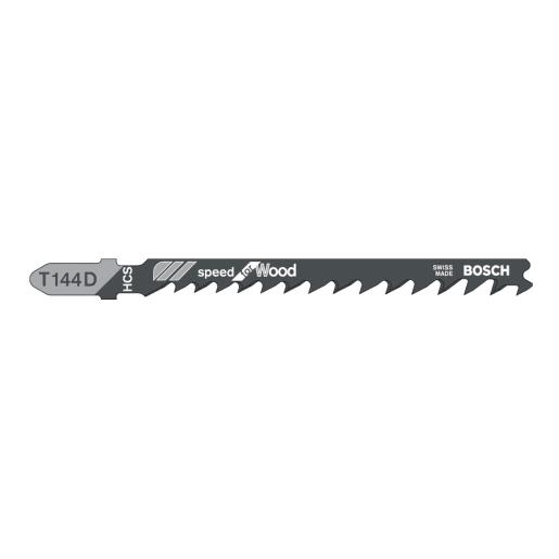 Bosch Jigsaw Blade Clean Cut Progressor for Wood 100mm Black