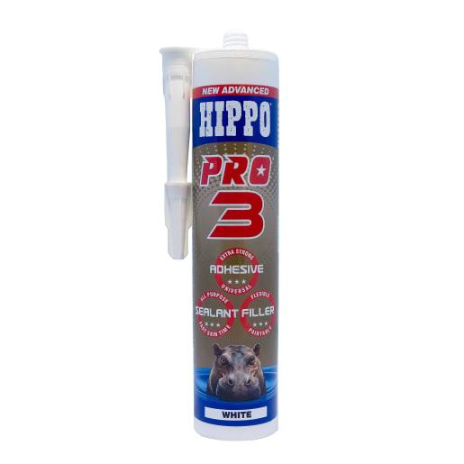 Hippo Pro 3 Adhesive, Sealant & Filler 310ml White