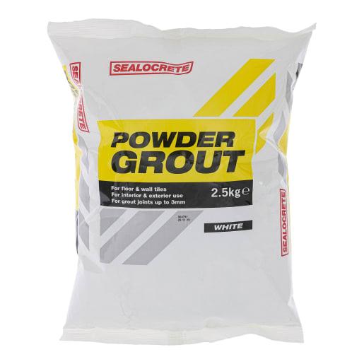 Sealocrete Powder Grout 2.5kg White