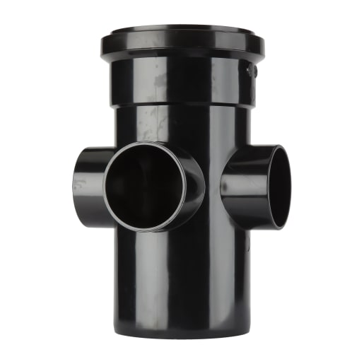 Polypipe Ring Soil and Vent Boss Pipe Single Socket 150 x 110mm Black
