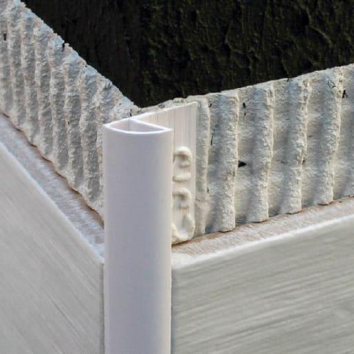Genesis Regular Round Edge Tile Trim 2500 x 6mm White
