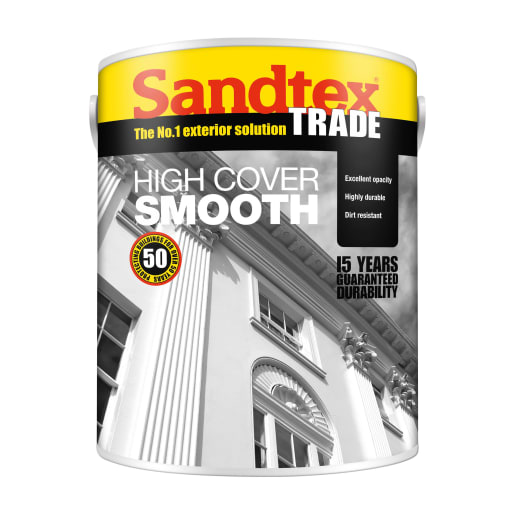 Sandtex High Cover Smooth 5 Litre Plymouth Grey