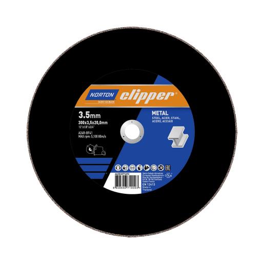 Norton Clipper Flat Metal Cutting Disc 300 x 3.5 x 20mm