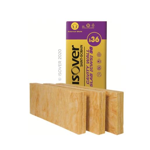 Isover Cavity Wall Slab 36, 1200 x 455 x 75mm