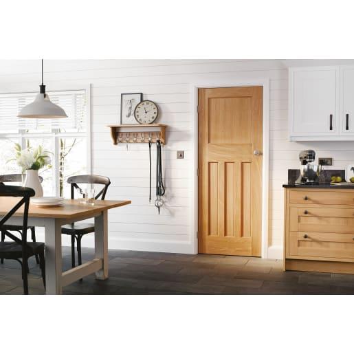 DX 30s Unfinished Oak Door 762 x 1981mm