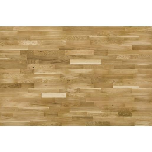 Basix 14mm Engineered Wood Floor 3-Strip Natural Oak 207X1092mm 1.58m²