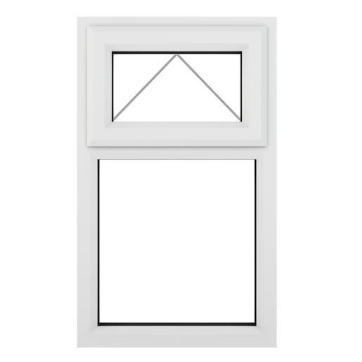 PVC-U Top Hung Window 610 x 820mm White