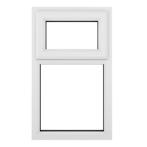 PVC-U Top Hung Window 610 x 1190 mm White