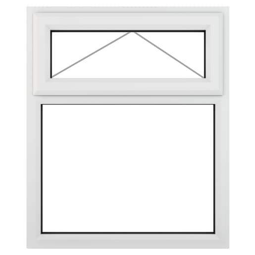 PVC-U Top Hung Window 1190 x 1115 mm White