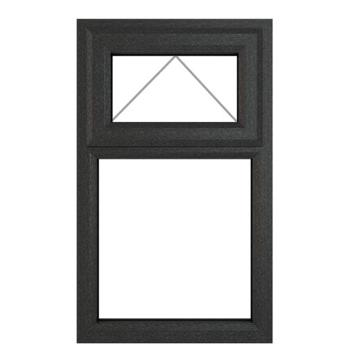 PVC-U Top Hung Window 610 x 965mm Grey/White