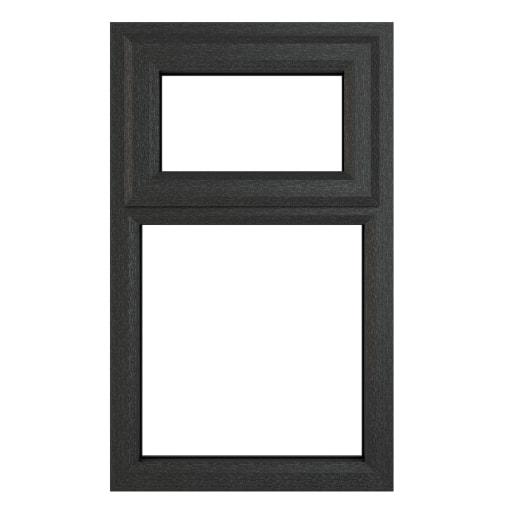 PVC-U Top Hung Window 610 x 1115mm Grey/White