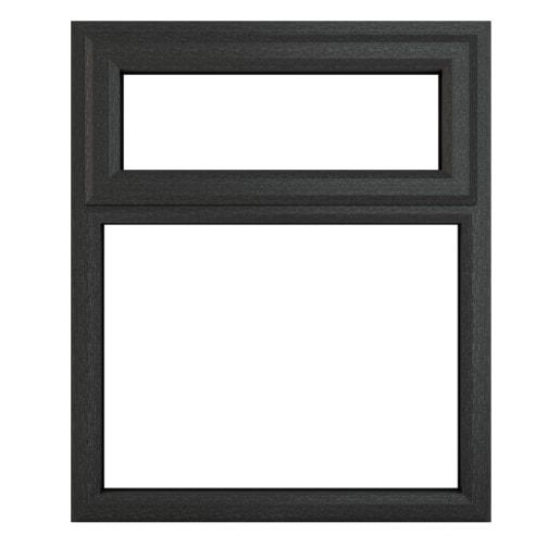 PVC-U Top Hung Window 905 x 1115mm Grey/White
