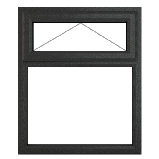 PVC-U Top Hung Window 1190 x 1115mm Grey/White