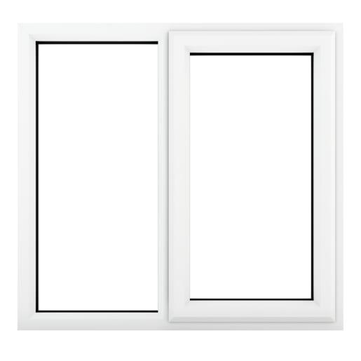 PVC-U RH Side Hung Window 1190 x 965 mm White