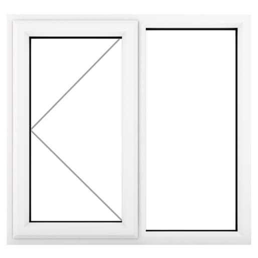 PVC-U LH Side Hung Window 1190 x 1040 mm White