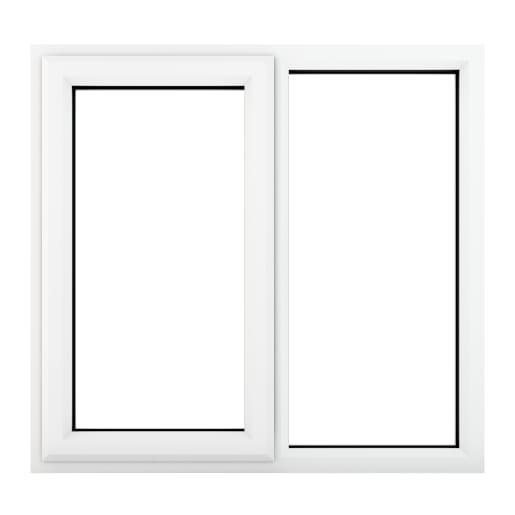 PVC-U LH Side Hung Window 1190 x 1190 mm White