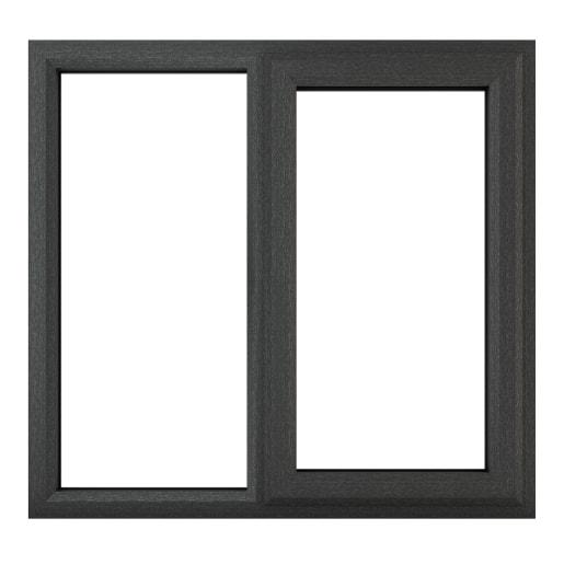 PVC-U RH Side Hung Window 1190 x 1040mm Grey/White